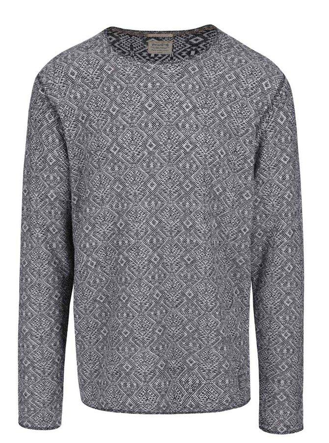 Čierno-biely vzorovaný sveter Jack & Jones Veli