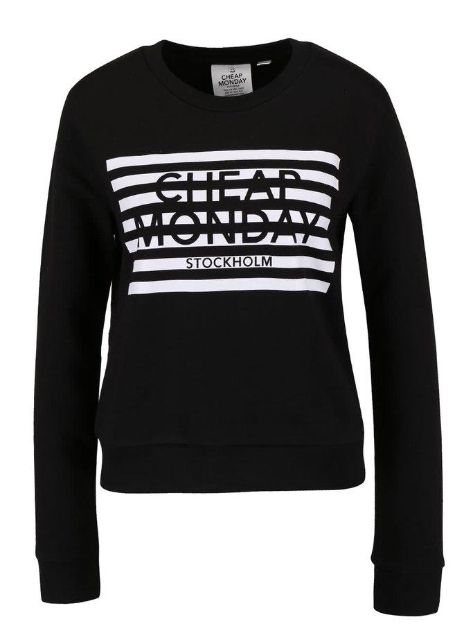 Bluză sport neagră Cheap Monday Win cu print