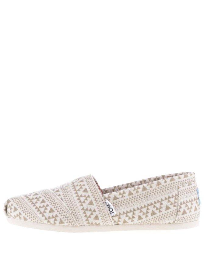 Krémové dámské vzorované loafers TOMS
