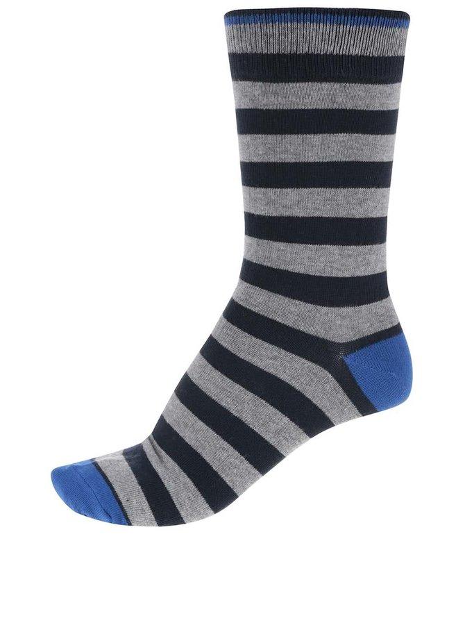 Šedo-modré pruhované ponožky Jack & Jones Belair I.