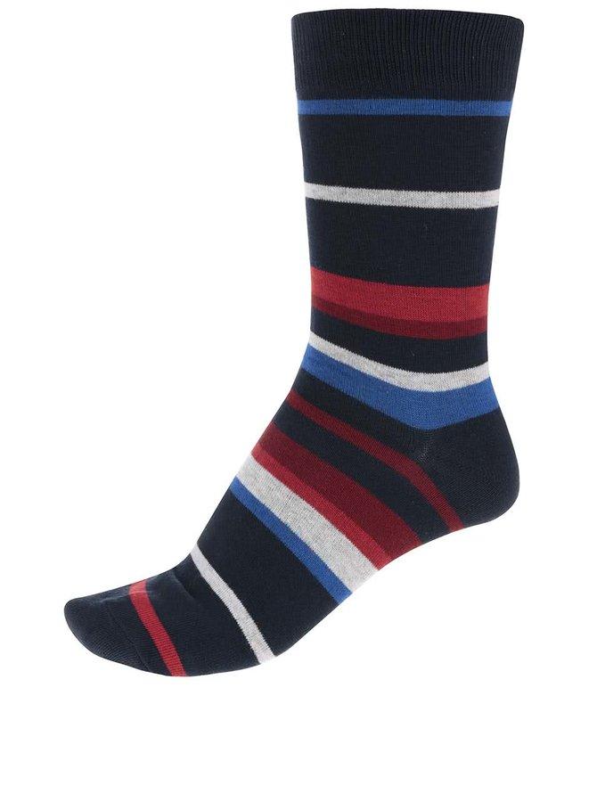Červeno-modré pruhované ponožky Jack & Jones Belair II.