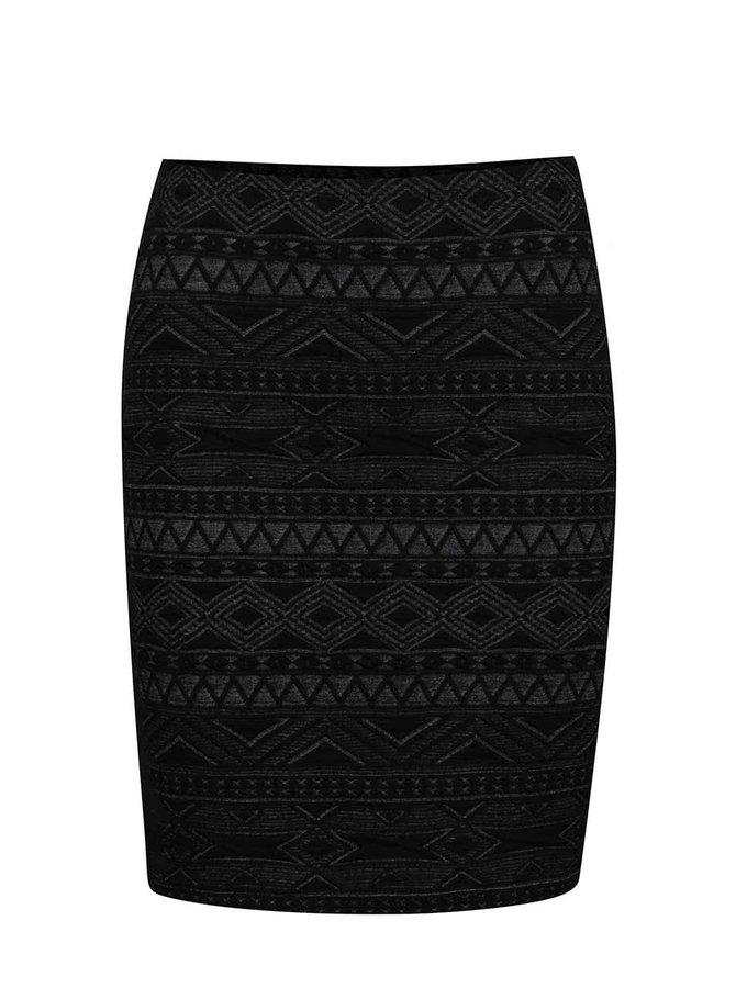 Čierna vzorovaná sukňa ONLY New Vigga
