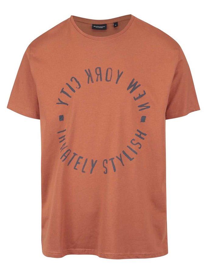 Tricou portocaliu Broadway Bennie din bumbac