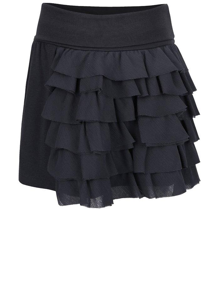 Tmavě šedá holčičí sukně s volánky Bóboli