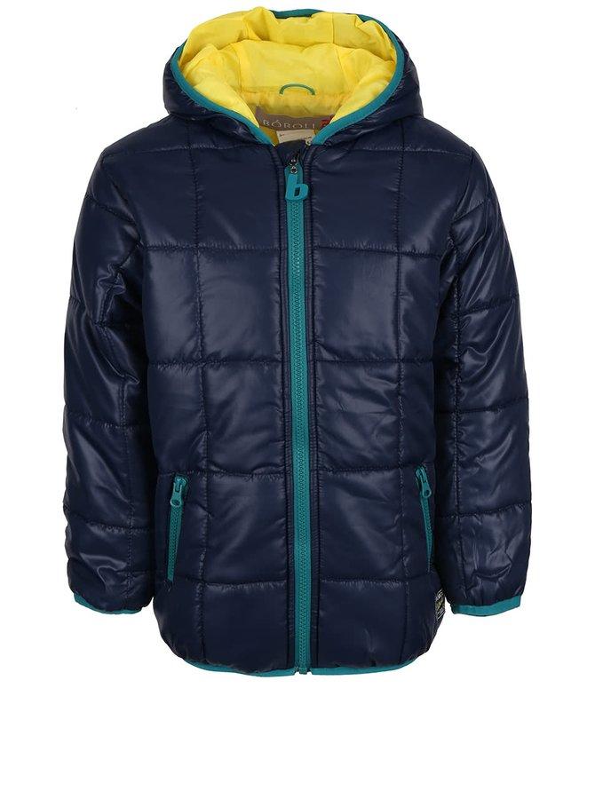 Tmavomodrá chlapčenská bunda s kapucňou Bóboli