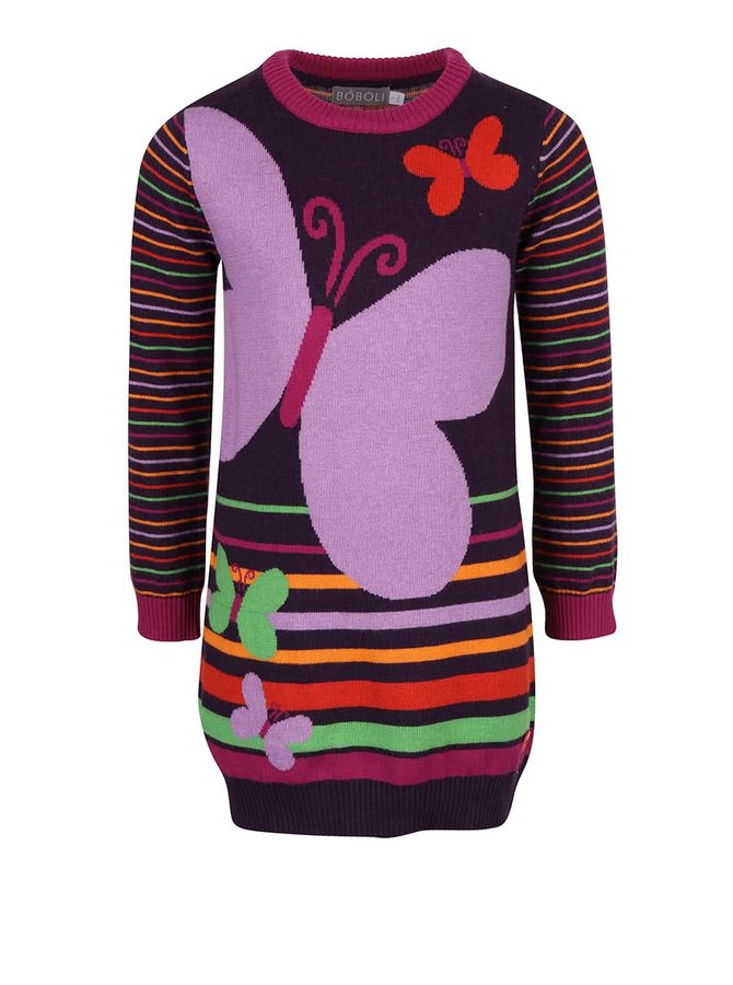 Rochie tricot mov cu model Bóboli pentru fete
