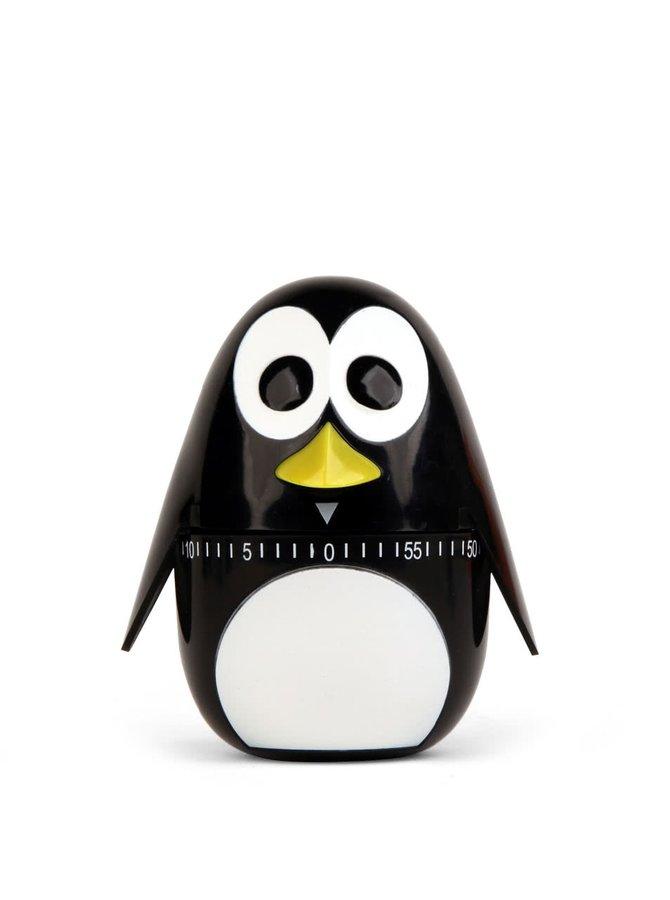 Černá minutka do kuchyně ve tvaru tučňáka Kikkerland