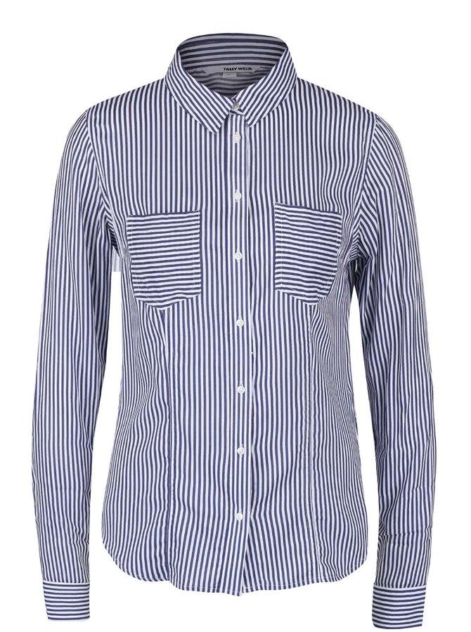 Modro-bílá pruhovaná košile s kapsami TALLY WEiJL