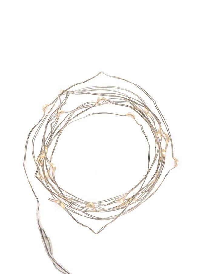 Svíticí řetěz ve stříbrné barvě Kikkerland Wire