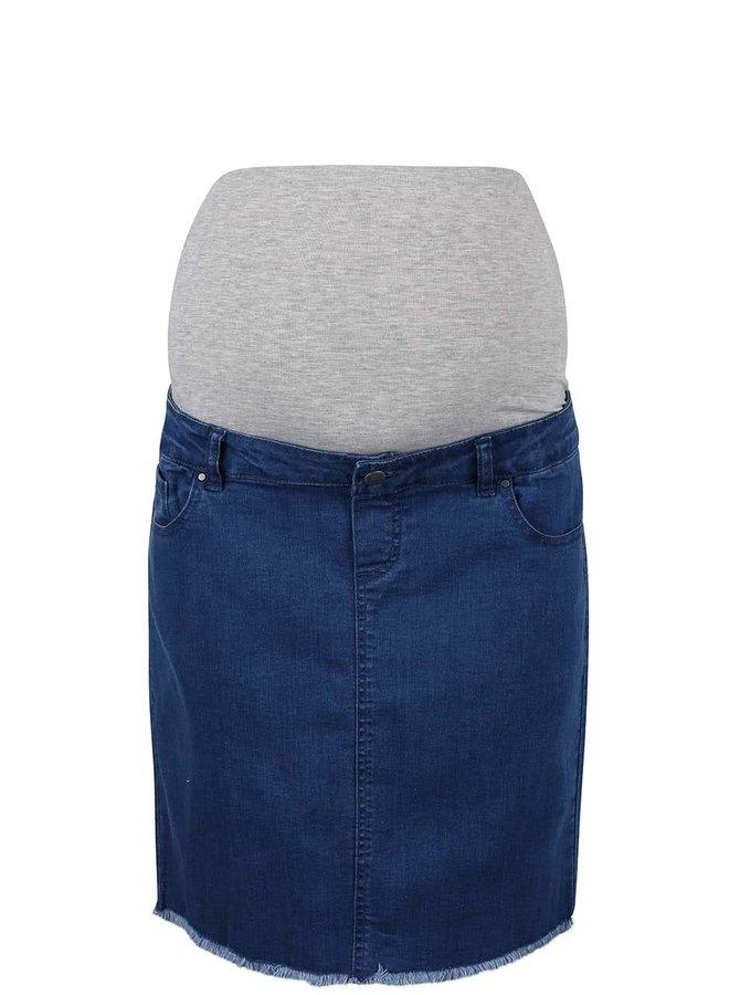 Modrá džínová těhotenská sukně Mama.licious Crista