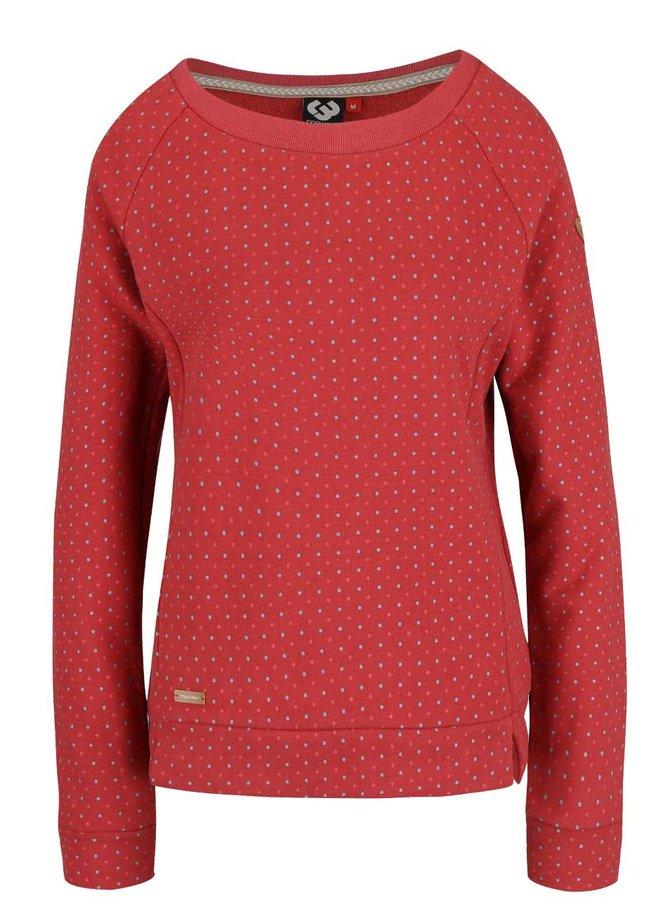 Bluză roșie Ragwear Kind Dots cu buline