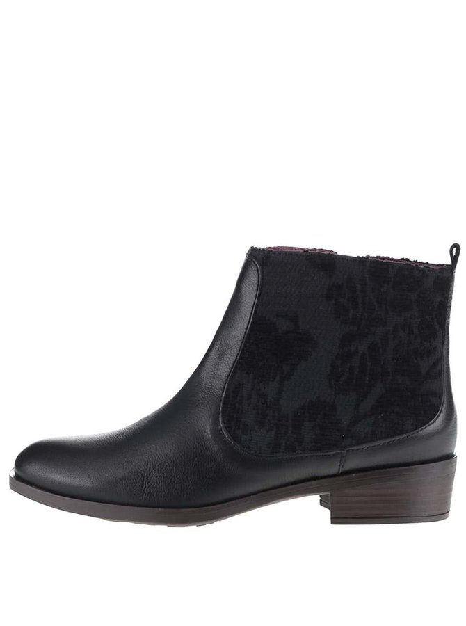 Černé kotníkové boty Desigual Boho