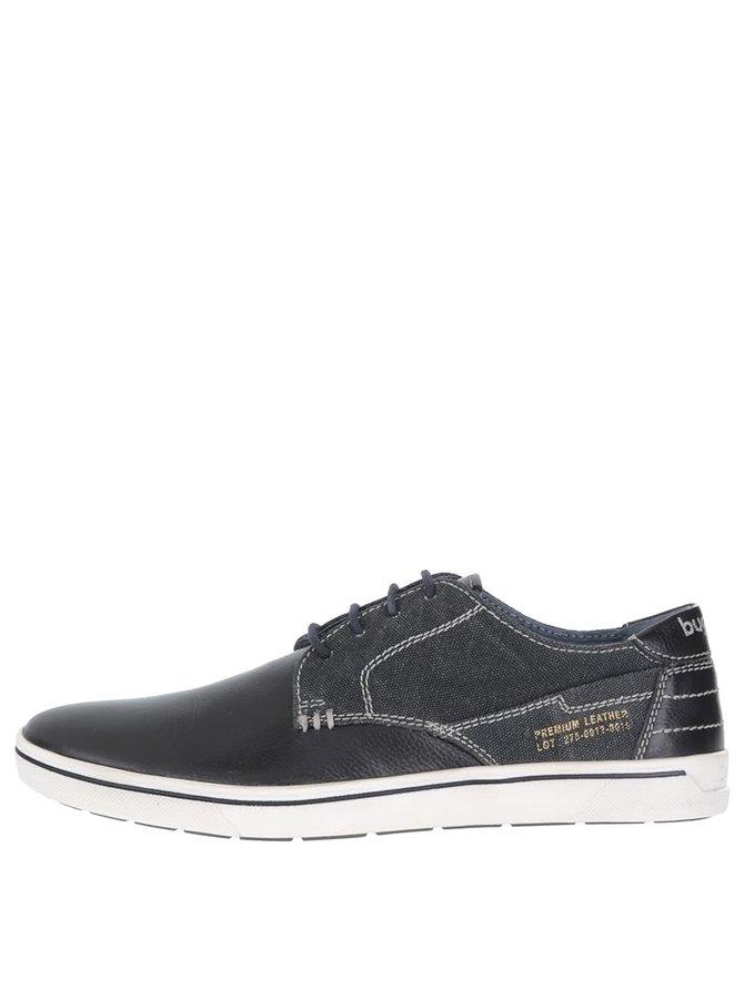Pantofi sport negri din piele bugatti pentru bărbați