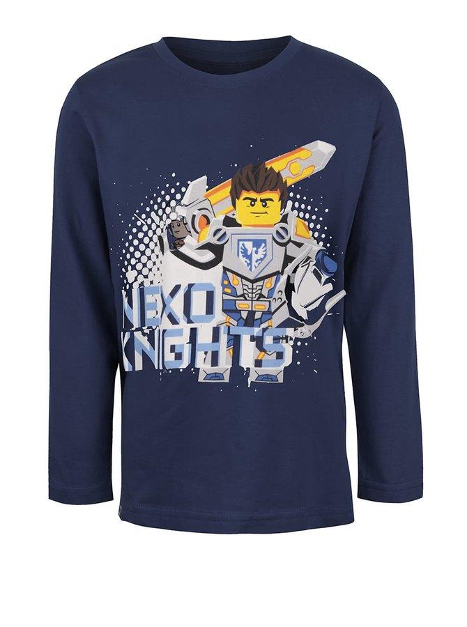 Tmavě modré klučičí triko s potiskem a dlouhým rukávem LEGO Wear M-Line