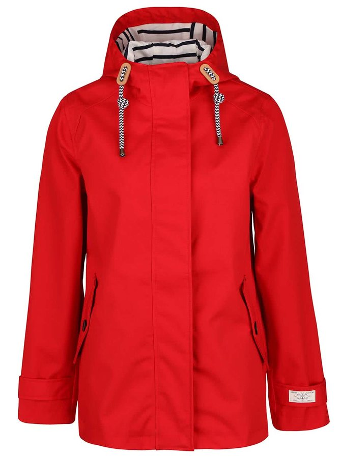 Červená dámska nepremokavá bunda s kapucňou Tom Joule Coast