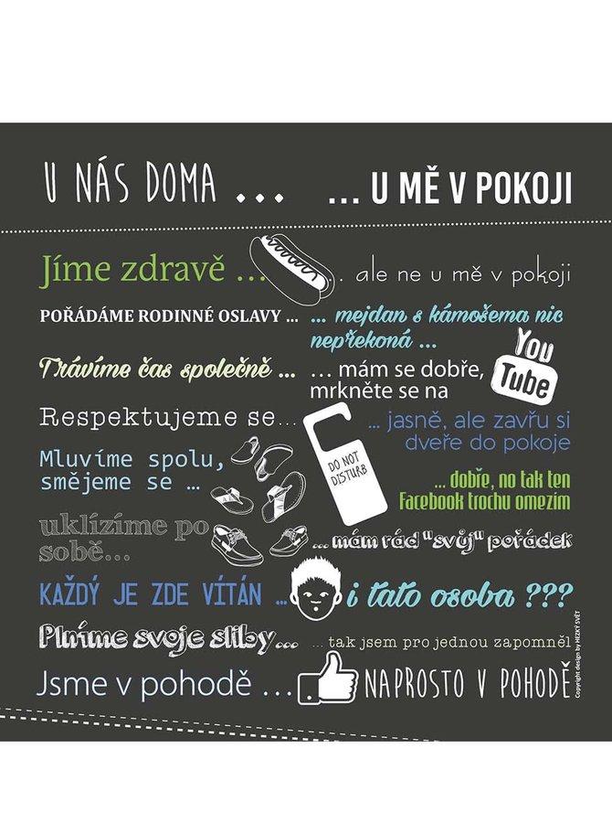 Šedý plakát HEZKÝ SVĚT Teenageři