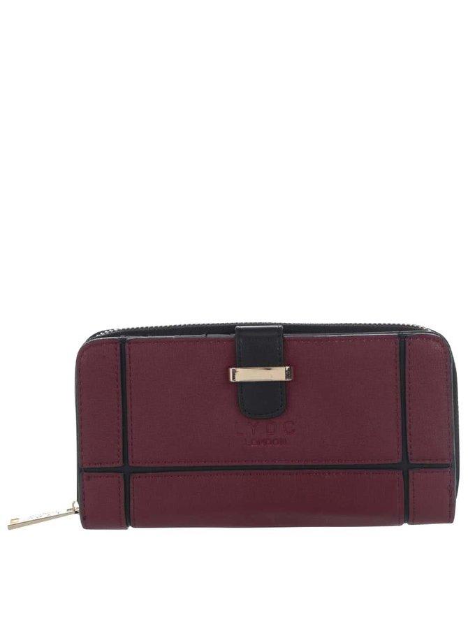 Čierno-vínová peňaženka LYDC