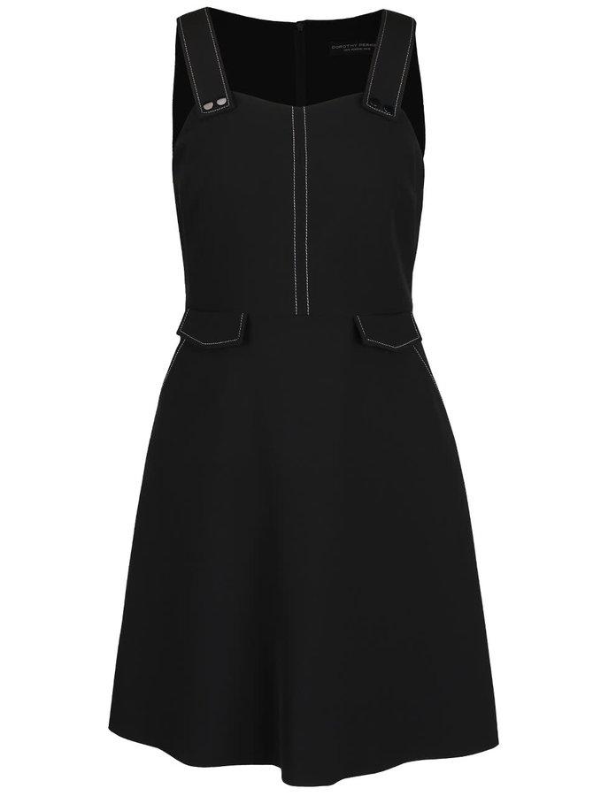 Černé šaty s kapsami Dorothy Perkins