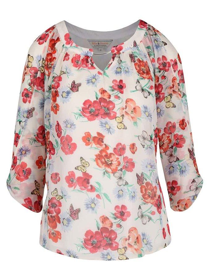 Bluză crem Dorothy Perkins cu imprimeu