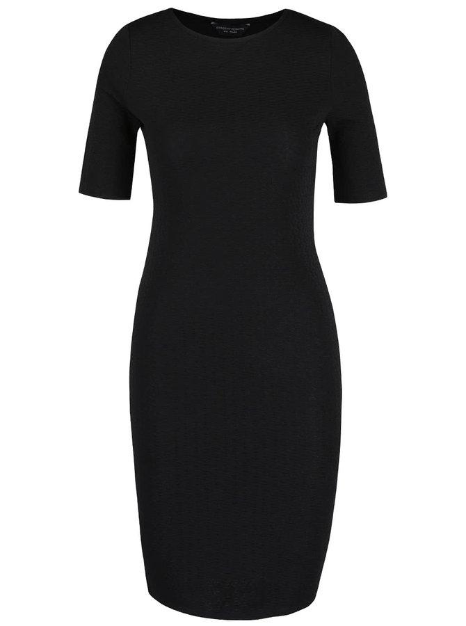 Černé šaty  s plastickým vzorem Dorothy Perkins