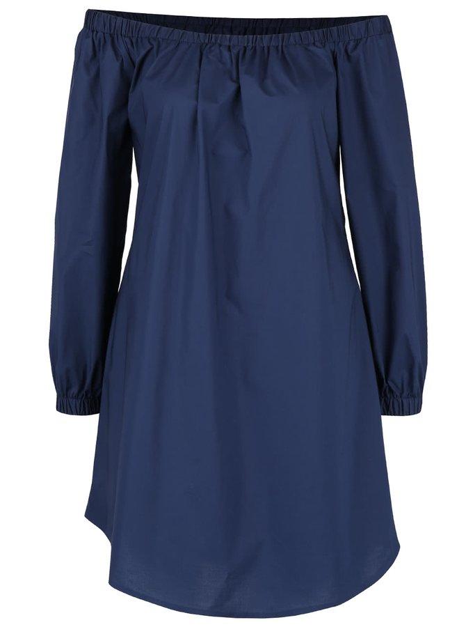 Tmavě modré šaty s odhalenými rameny Closet