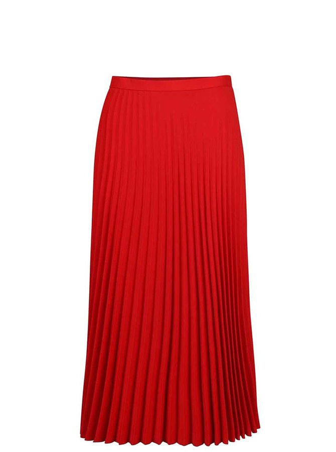 Červená plisovaná midi sukňa Dorothy Perkins