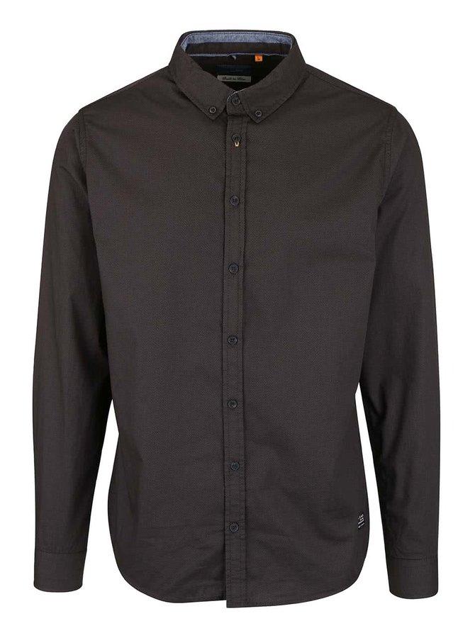 Čierno-zelená vzorovaná košeľa Blend