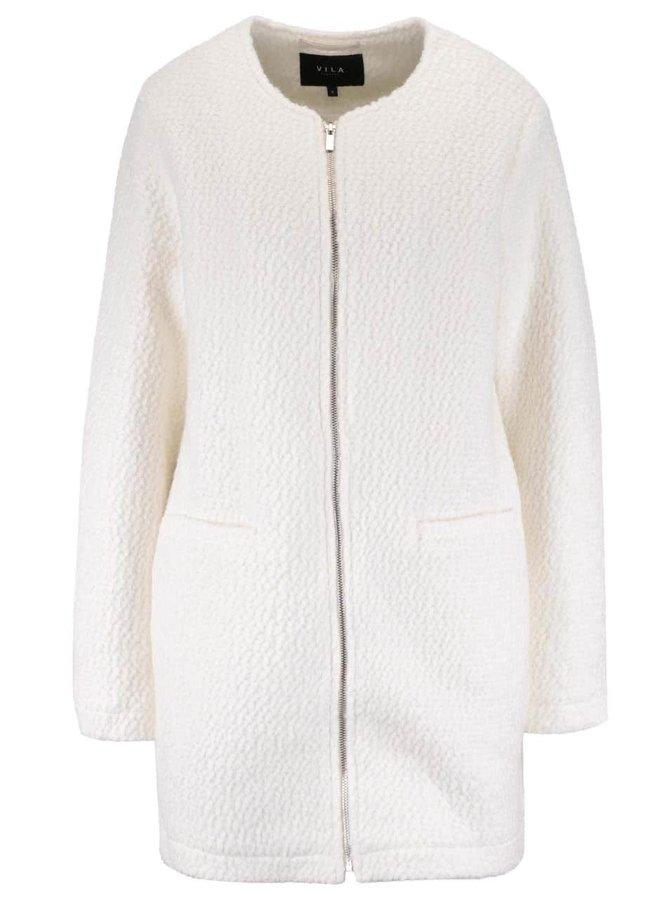Jachetă crem  VILA Astal din material boucle