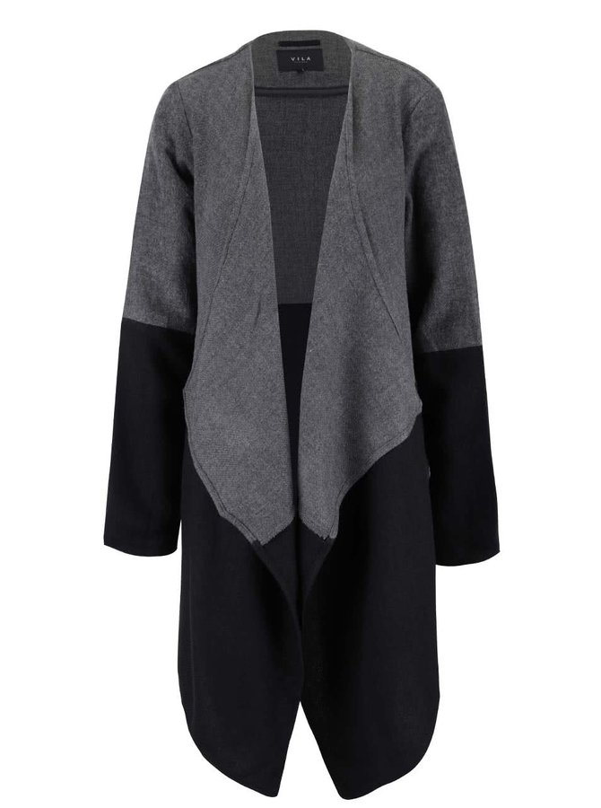 Černo-šedý cardigan VILA Kaia