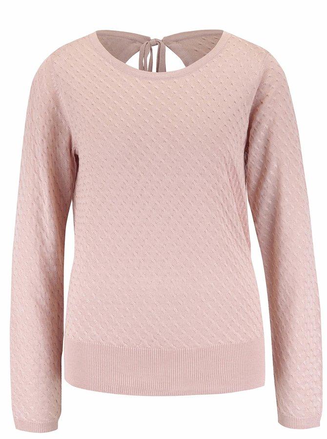 Světle růžový svetr VILA Tobi