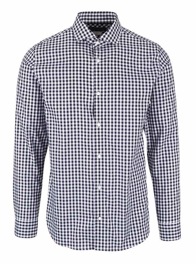 Bielo-modrá kockovaná košeľa Jack & Jones Oscar
