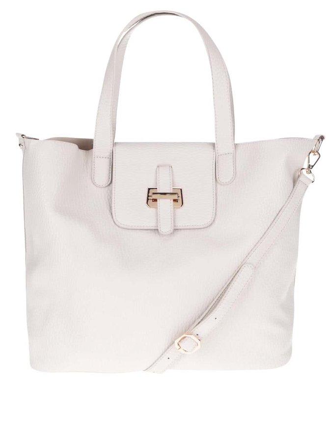 Krémová väčšia kabelka Miss Selfridge
