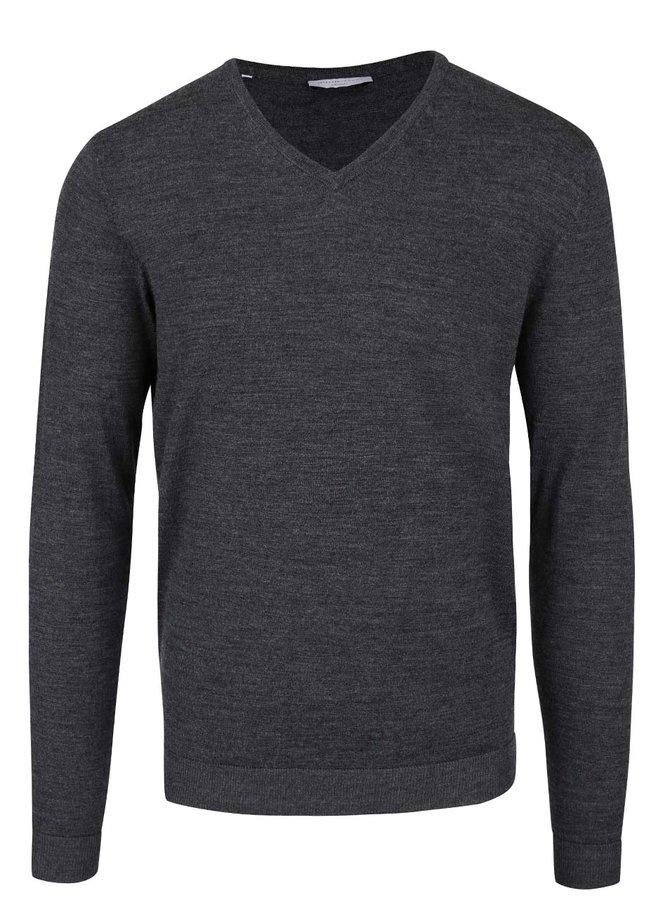 Sivý sveter s véčkovým výstrihom Selected Homme Tower