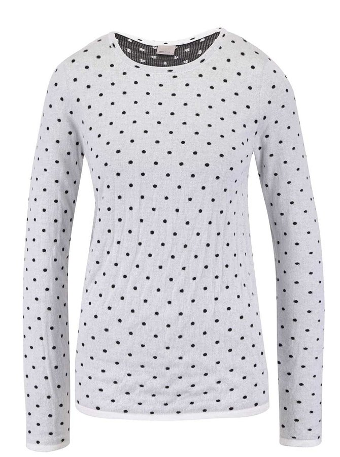 Krémový puntíkovaný svetr Vero Moda Ludwig