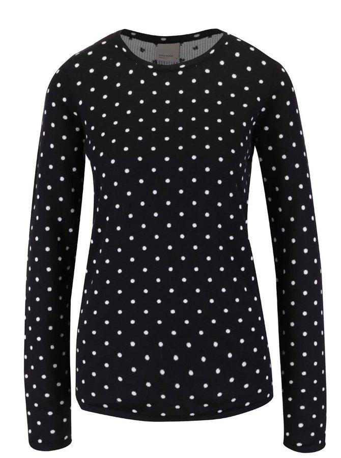 Černý puntíkovaný svetr Vero Moda Ludwig