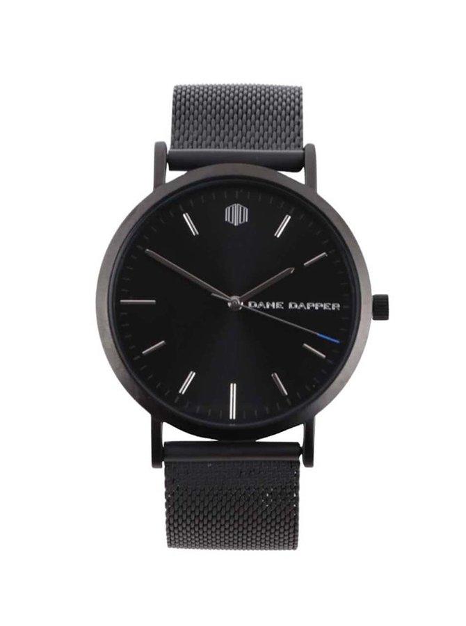 Ceas negru  Lucleon August  cu brățară