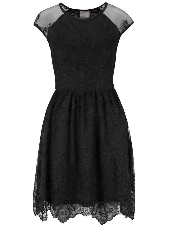 Rochie neagră Vero Moda Maggi din dantelă