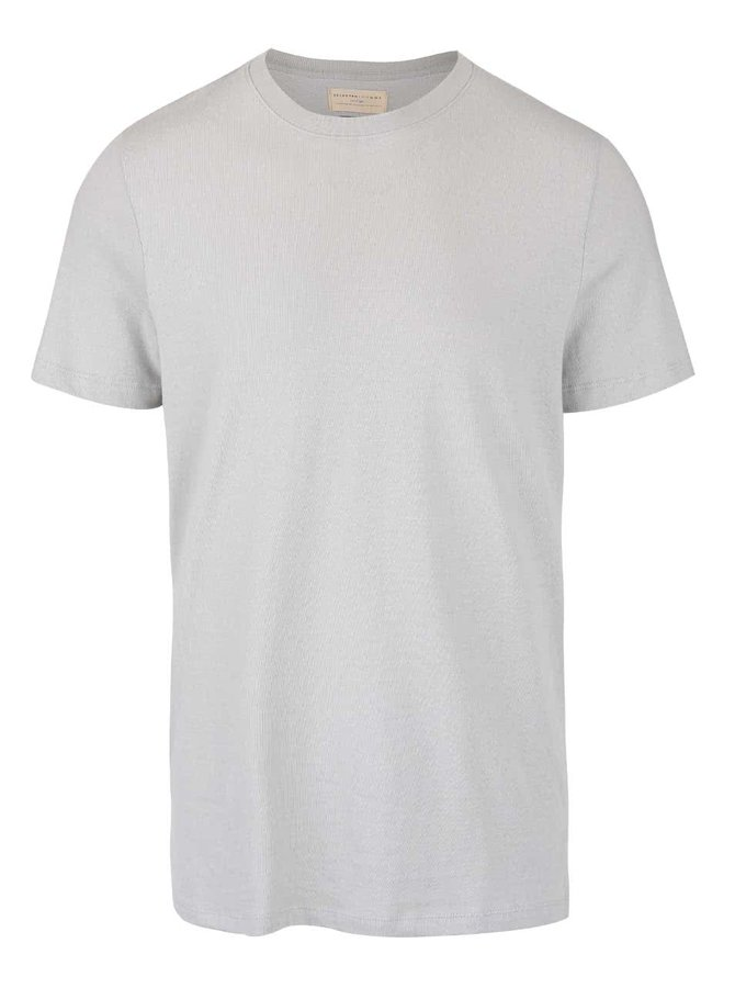 Tricou gri Selected Homme Magne din bumbac