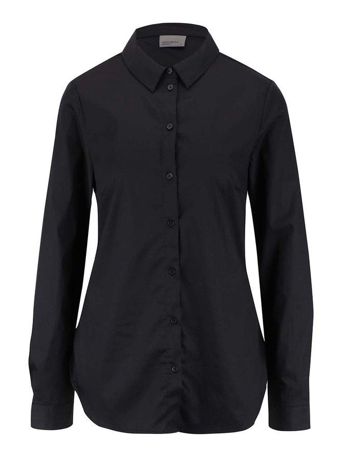 Černá košile s dlouhým rukávem VERO MODA Metto