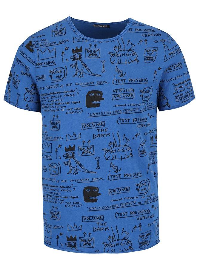 Tmavě modré pánské vzorované triko ZOOT