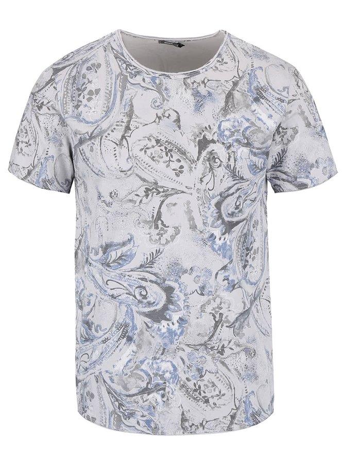 Tricou gri ZOOT cu imprimeu paisley