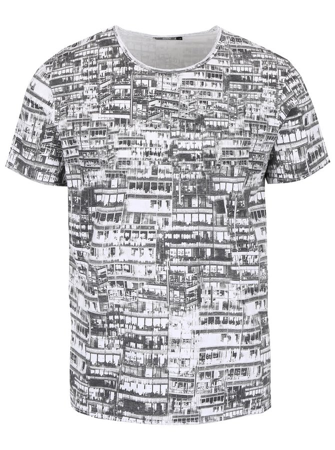 Černo-bílé pánské vzorované triko ZOOT
