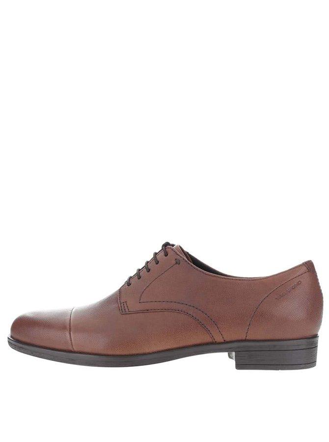 Pantofi maro din piele Vagabond Code cu șiret