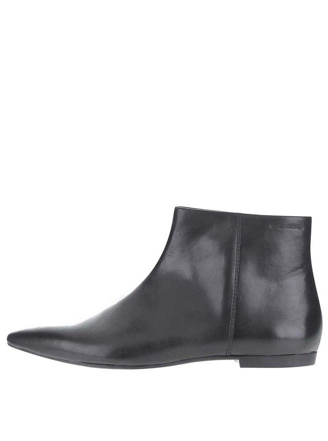 Čierne dámske kožené členkové topánky Vagabond Katlin