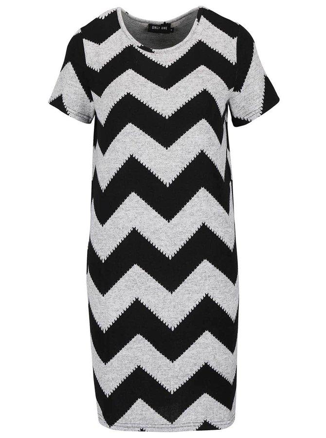 Čierno-sivé vzorované šaty ONLY Elcos
