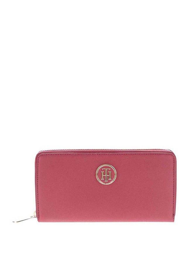 Vínová praktická peňaženka s aplikáciou v zlatej farbe Tommy Hilfiger