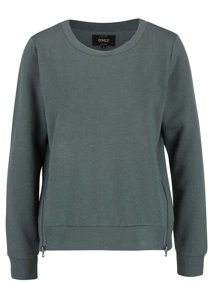 Bluză verde ONLY Whipper cu fermoar
