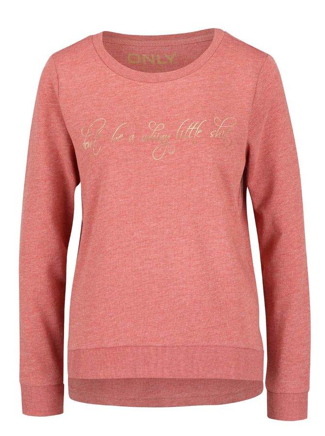Bluză roz ONLY Micka cu print