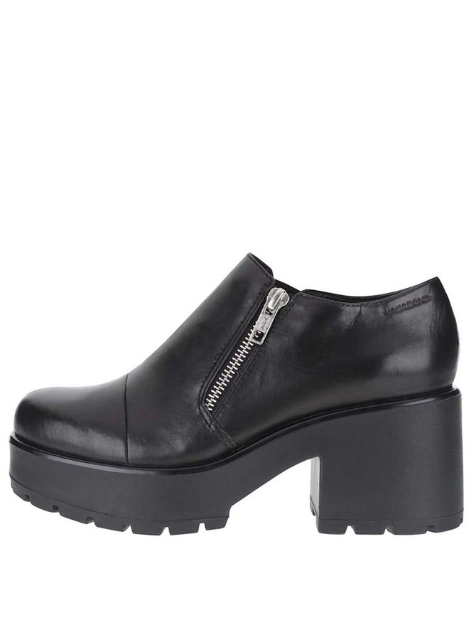 Čierne kožené topánky na platforme Vagabond Dioon