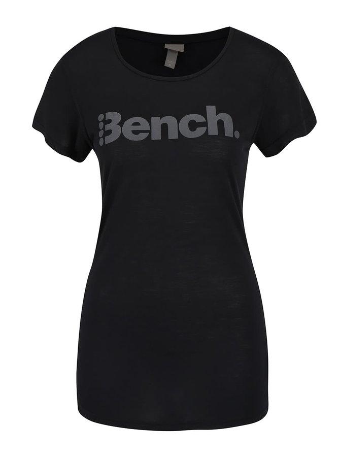 Tricou negru Bench cu imprimeu pentru femei
